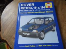 COLLECTABLE 1996 HB 1711 HAYNES WORKSHOP MANUAL ROVER METRO 111 & 114 1990 1996